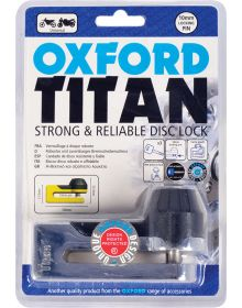 Oxford Titan Tough & Reliable Disc Lock Chrome