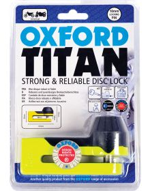 Oxford Titan Tough & Reliable Disc Lock Yellow