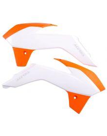 Acerbis Radiator Shrouds 85 SX 2013-2016 Orange/White