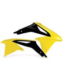 Acerbis Radiator Shrouds RMZ450 2008-2016 Flo-Yellow/Black