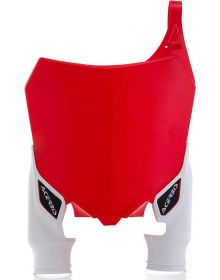 Acerbis Raptor Front Number Plate CRF250 14-16/450 13-16 White/Red
