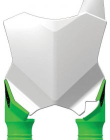 Acerbis Raptor Front Number Plate KXF250 17 /450 16-17 White/Green