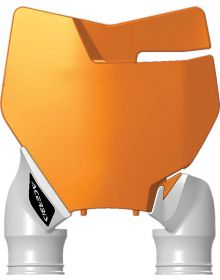 Acerbis Raptor Front Number Plate KTM 125-450 16-17 Orange/White