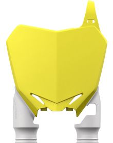 Acerbis Raptor Front Number Plate RMZ250/450 Yellow/White