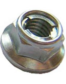 Bolt Locking Flange Nuts M6 10mm Hex 10PK