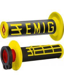 ODI Emig V2 Racing Lock On Grips Black/Yellow