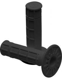 Pro-Taper Single Density Race Cut Half Waffle Grips MX Black