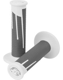 Pro-Taper Clamp-On Lock On System Full Diamond Grips White