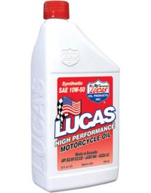 Lucas Oil High Performance Synthetic 4T 10W50 Quart