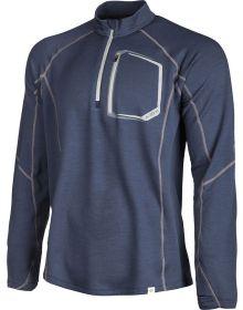Klim 2019 Teton Merino Wool 1/4 Zip Shirt Blue