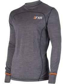 FXR Vapour 100% Merino Longsleeve Shirt Char/Orange