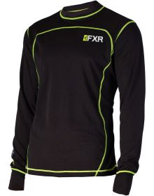 FXR Vapour 20% Merino Longsleeve Shirt Black/Hi Vis