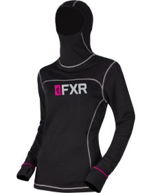 FXR Vapour 20% Merino Balaclava Womens Longsleeve Shirt Black/Fuchsia