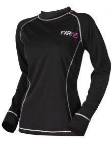 FXR Vapour 20% Merino Womens Longsleeve Shirt Black/Fuchsia