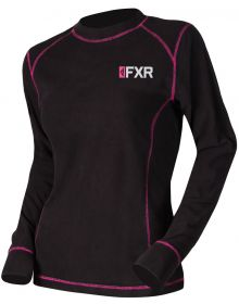 FXR Pyro Thermal Womens Longsleeve Shirt Black/Fuchsia