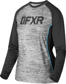FXR Helium X Tech Womens Longsleeve Shirt Grey Heather/Mint