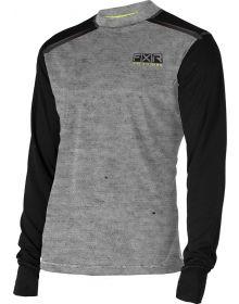 FXR Tenacious Base Layer Shirt 75% Merino Wool Grey/Hi-Vis
