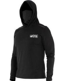 FXR Endeavor Hooded Base Layer Shirt 20% Merino Wool Black
