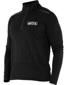 FXR Endeavor 1/4 Zip Base Layer Shirt 20% Merino Wool Black