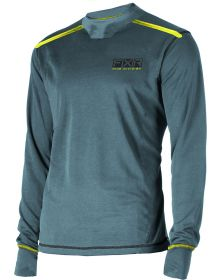 FXR Vapour Mid Layer Shirt 20% Merino Wool Steel/Hi-vis
