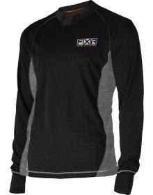 FXR Endeavor Heavy Layer Shirt 20% Merino Wool Black/Grey