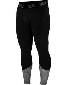 FXR Endeavor Heavy Layer Pant 20% Merino Wool Black/Grey