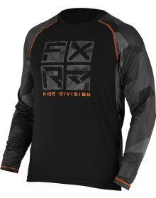 FXR Atmosphere Longsleeve Shirt Charcoal/Orange