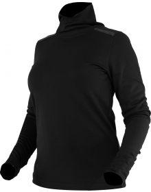 FXR Endeavor 20% Merino Wool Womens Longsleeve Turtle Neck Shirt Black/Elec. Pin