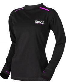 FXR Endeavor 20% Merino Wool Womens Longsleeve Shirt Black/Elec. Pink