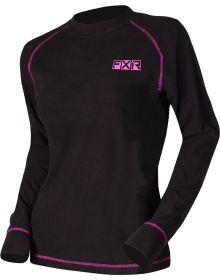 FXR Pyro Thermal Womens Longsleeve Shirt Black/Elec. Pink