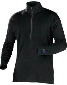 Minus 33 Midweight Quarter Zip Base Layer Shirt Black