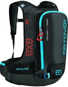 Ortovox Free Rider 20 Avalanche Airbag Backpack Black/Anthracite