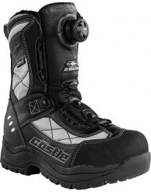 Castle X Charge ATOP Womens Snowmobile Boots Gray/Black