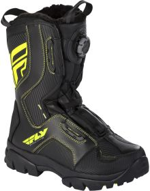 Fly Racing 2021 Marker BOA Snowmobile Boot Black/HiVis