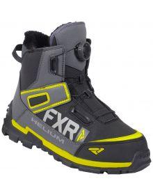FXR Helium Outdoor BOA Boots Black/Char/Hi Vis