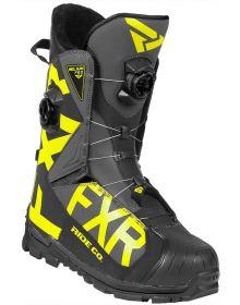 FXR Helium Pro Boa Boot Black/Charcoal/Hi Vis