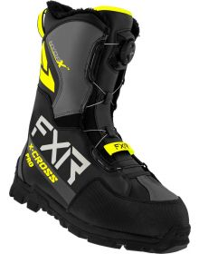 FXR 2022 X-Cross Pro BOA Snowmobile Boots Black/Hi Vis