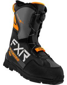 FXR 2022 X-Cross Pro BOA Snowmobile Boots Black/Orange