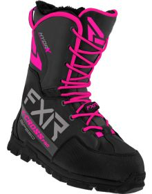 FXR 2022 X-Cross Pro Speed Snowmobile Boots Black/Fuchsia