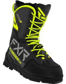 FXR 2022 X-Cross Pro Speed Snowmobile Boots Black/Hi Vis