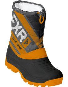FXR Octane Youth Snowmobile Boots Black/Orange/Char