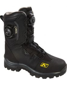 Klim Adrenaline GTX Snowmobile Boot BOA Lacing  Black