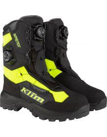 Klim 2021 Adrenaline Pro GTX Gore-Tex BOA Snowmobile Boot Black/Hi-Vis