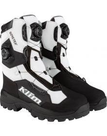 Klim 2021 Adrenaline Pro GTX Gore-Tex BOA Snowmobile Boot Black/White