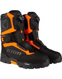 Klim 2021 Klutch GTX Gore-Tex BOA Snowmobile Boot Black/Strike Orange