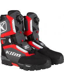 Klim 2021 Klutch GTX Gore-Tex BOA Snowmobile Boot Black/High Risk Red
