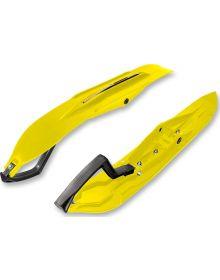 Kimpex Rush Skis Yellow Kit Pair - W/Wear Bars & Mounts