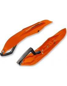 Kimpex Rush Skis Orange Kit Pair - W/Wear Bars & Mounts