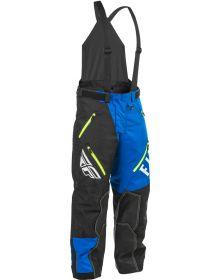 Fly Racing 2020 SNX Pro Snow Bike Bib Black/Blue/Hi-Vis