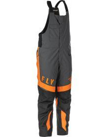 Fly Racing 2021 Outpost Snowmobile Bib Black/Grey/Orange